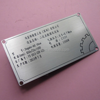 Acid etched stainless steel nameplates