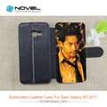 New Diy Sublimation Leather Wallet Phone Case For Samsung A3 2017