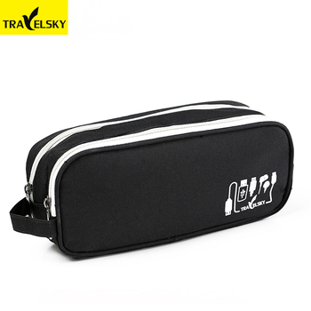 Travelsky Multi-functional business Travel zipper Organizer earphone headset USB cables storage bag