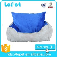 Soft washable luxury pet dogs suede pet bed non slip