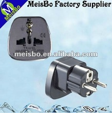 South Korea embedded pins telephone adaptor plug 10-16A 250V AC socket EURO. style With protection of door SS-9