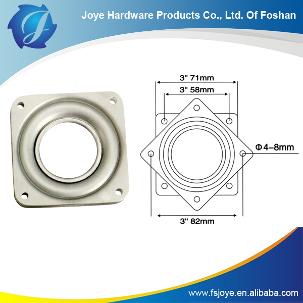 High quality hollow lazy susan table swivel plate round plate