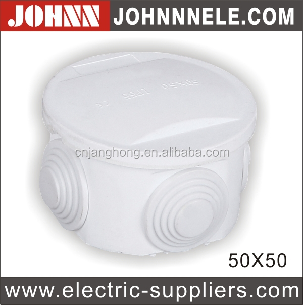 50*50* Round Shape Plastic Electrical Junction Box
