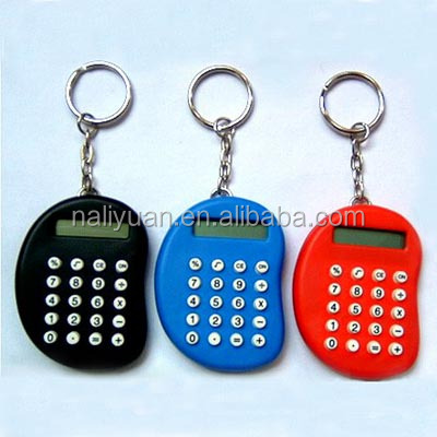 mini attractive mini pocket size calculator with keychain