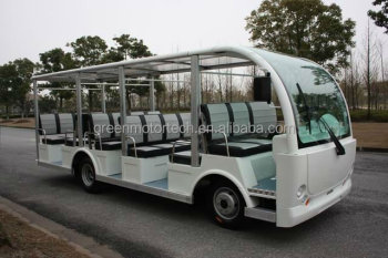 23 seats electric sight seeing shuttle bus used in park hotel