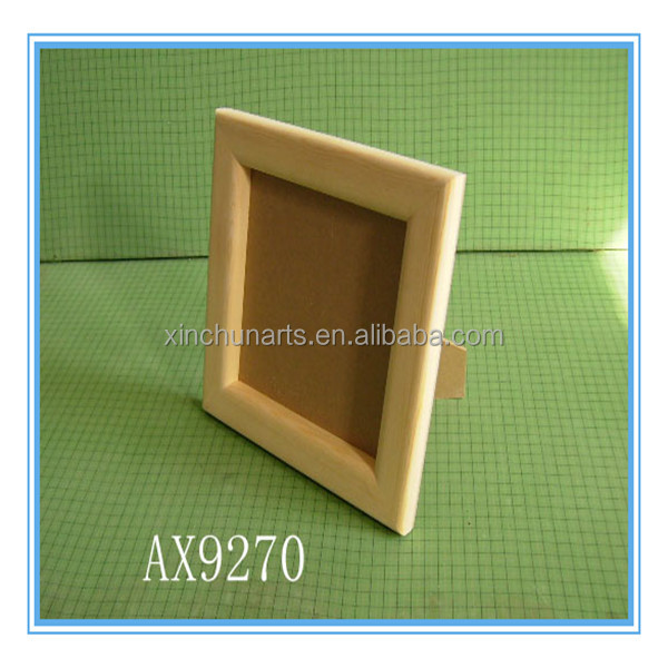 Unfinished cheap wooden picture/photo frame wholesale