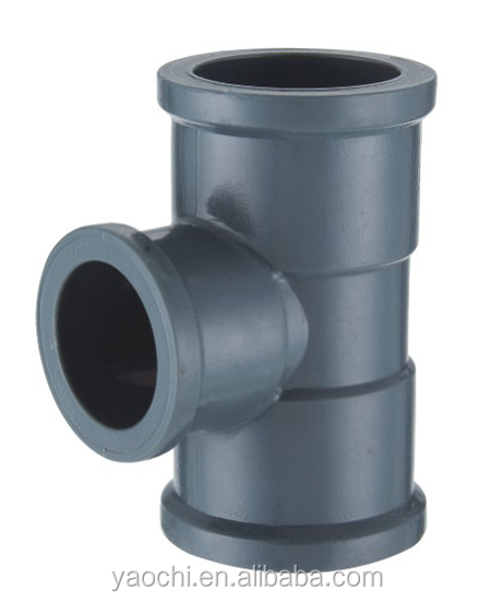 Nigeria Hot sale UPVC reducing tee fittings pvc pipe fittings DIN/NBR5648 standard