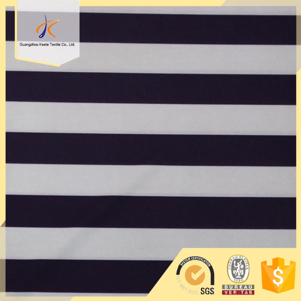 Alibaba wholesale high quality customize cotton textile navy stripe pattern black and white fabric