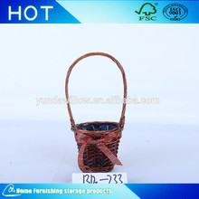 Wholesale Cheap Wood Chip Flower Girl Basket for Wedding Decoration