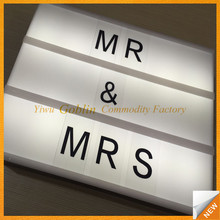 GBIY-069 Black shell battery powered letters light box LED lighting high quality light boxes
