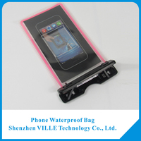 100% Waterproof Customized Logo Cell Phone PVC Waterproof bag For Iphone 6 With String
