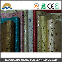 Glitter fabric/zarina 100% pu synthetic leather for shoes bags,Garment and Decorative