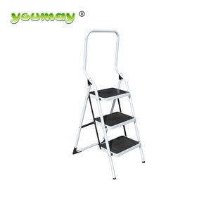 Approved folding steel 3 steps high quality ladder best for sale