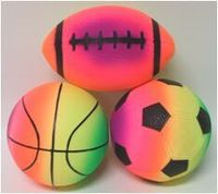 3-pack ball set with football , soccer and basketball