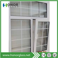 Plastic UPVC tilt and turn windows for house,new design for home windows,large glass window price for sale