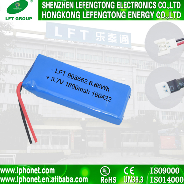 Well-made high-quality lithium-ion batteries high capacity 3.7v 1800mah lithium polymer battery cells 903562