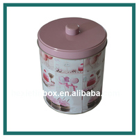 Small Cylindrical Storage Box Cookie Tin Box For Home