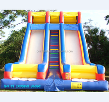 new design 24 ft double PVC inflatable giant wave slide for fun event/party on sale