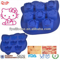 8 Faces Hello Kitty Silicone Novelty Bakeware For Kids With High Quality