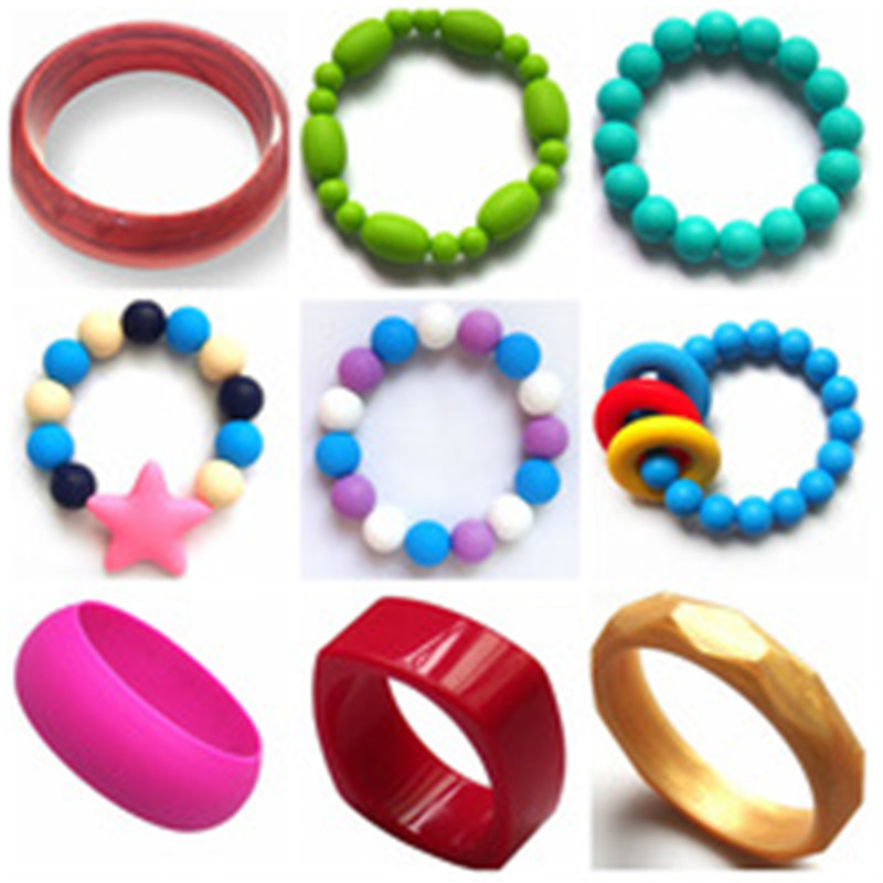 China Manufacturer BPA Free Food Grade Silicone Child Wear Bangles