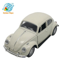 Open door emulation appearance beetle 1/32 scale die cast pull back car