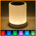 Table Lamp Touch Control Color Changing Outdoor Portable Led Light Bluetooth Speaker
