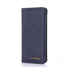 5.5inch universal leather wallet for Samsung note 8/iphone X PU flip case multi card leather wallet MT-6642