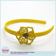 Flower headbands for kids fancy plastic hairbands