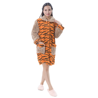 Fancy design New arrival orange bathrobe hooded