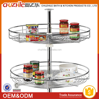Corner pantry cabinets lazy susan 360 degree rotating kitchen pull out storage wire basket