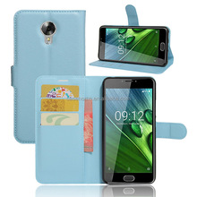 Factory stock leather phone case for Acer Liquid Z6 Plus Litchi grain leather flip stand wallet phone case with card slot