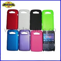 New Arrival ,Hybrid, Colorful Mesh Hard Case for Blackberry Bold 9790,Hard Back Case Cover