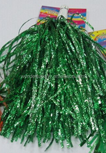 glitter plastic pompoms for party