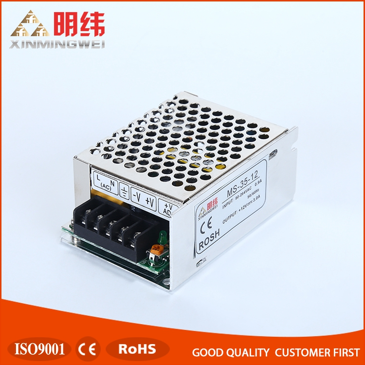 35W Mini Size AC DC Power Supply MS-35-12 with CE ROHS