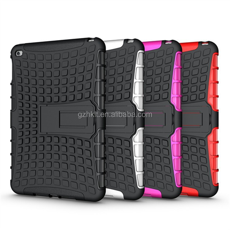 2015 New Style TPU+PC 2-in-1 hybrid kickstand case for iPad mini 4