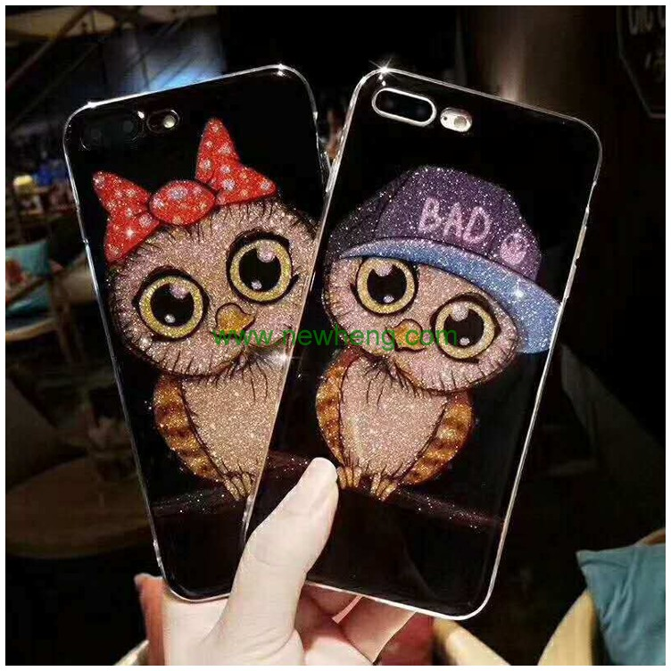 Hot Sale flash 3D Owl Phone Case For iPhone 7