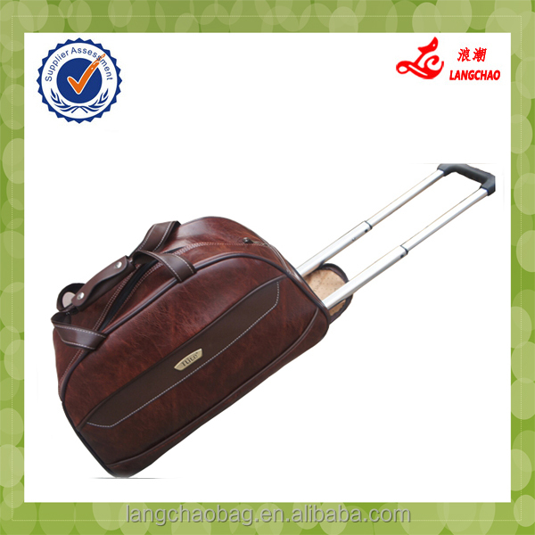 New trolley duffle bag Large capacity duffel bag with trolley practical duffle trolley bag
