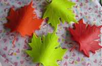 colour silicon maple leaf baby safe rubber stopper