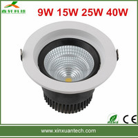 Wholesale 3 years warranty 170mm cut out anti-glare 40W Citizen cob downlights led