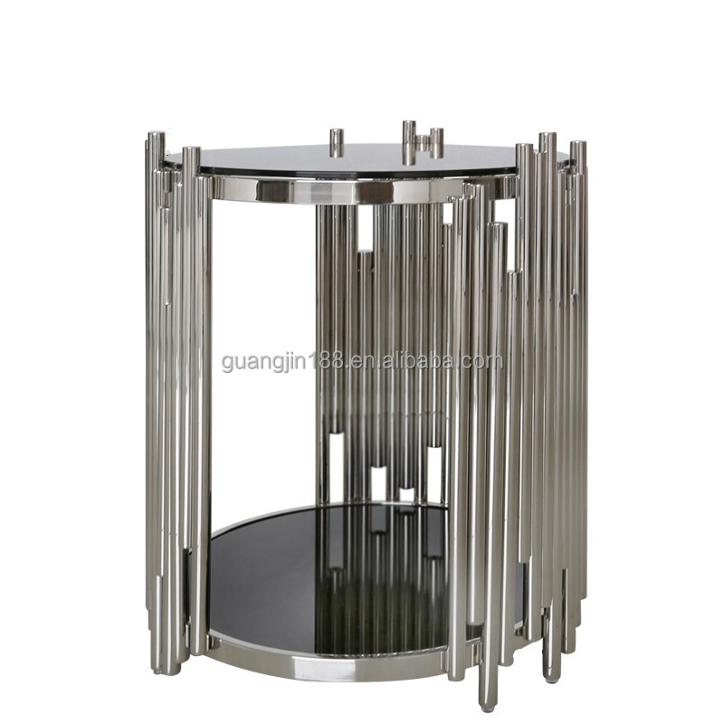 modern metal side table
