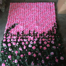 20ft wedding rose, orchid ,hydrangea flower wall for portable stage decoration backdrop design
