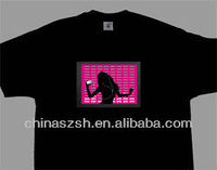 Fashion cool light up flashing customized LED T-shirt for party wear