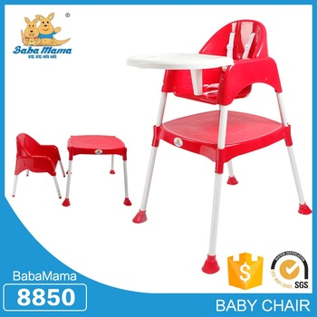 China Wholesale high quality baby furniture plastic baby highchair