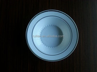 food grade plastic bowl with silver/gold rim for restaurant and festivals