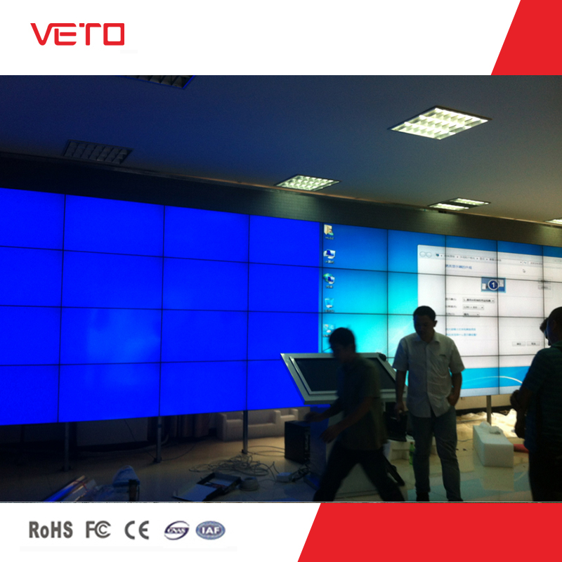 "Original Korea Samsung DID panel 46"" tiled video wall with super narrow seamless bezel 5.3mm in 3x4"