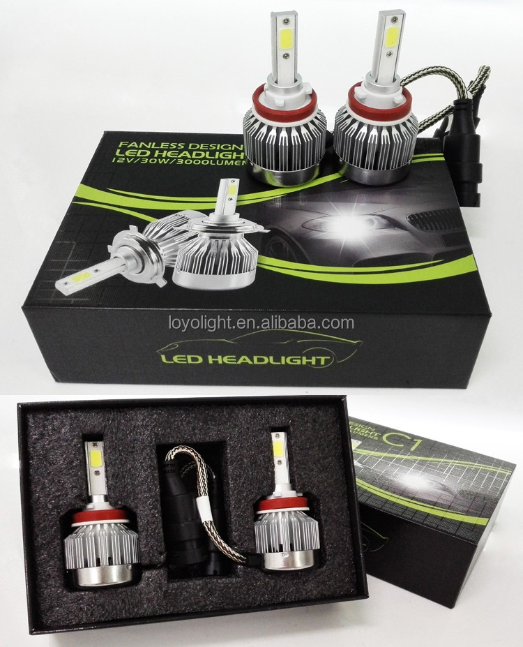 high low beam 30W h7 led headlight bulbs kit 12v for any car/ jeep