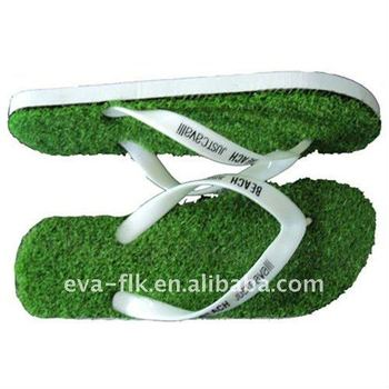 shenzhen guangdong EVA artificial grass sandal for women and ladies