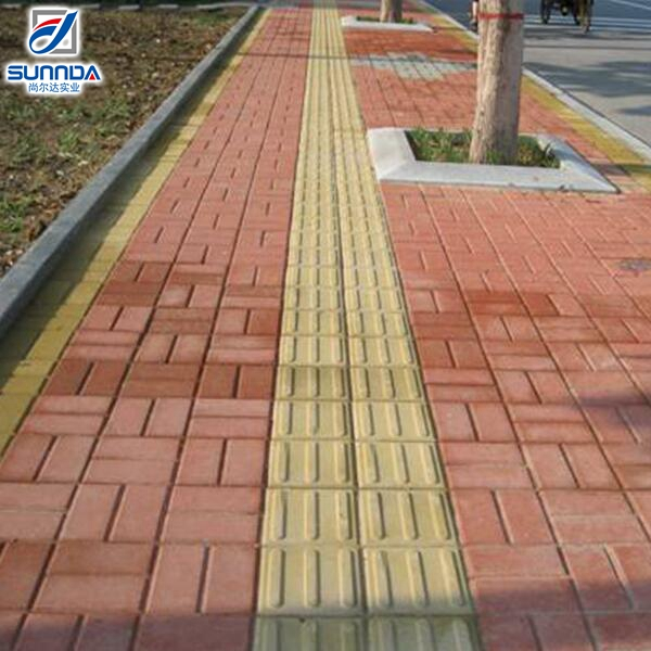 China cheap price quality guaranteed building materials non slip blind tracks brick for outdoor street flooring