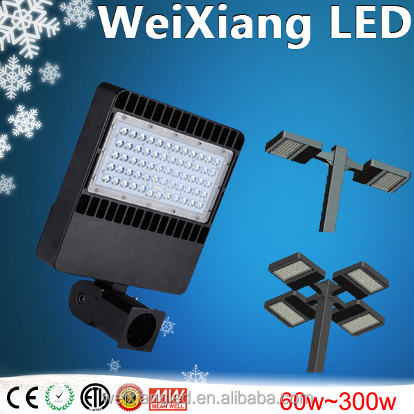 led parking lot light 100w 120w 150w High quality CE ROHS ETL listed 120lm/w light and lighting lamp