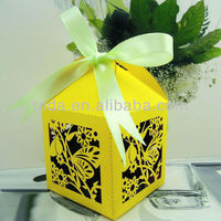 Butterfly on flower favor gift boxes for all party